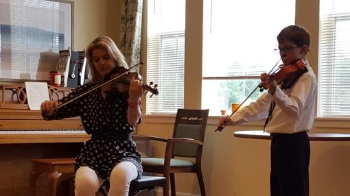 Isaac and Ms. Susi,violin